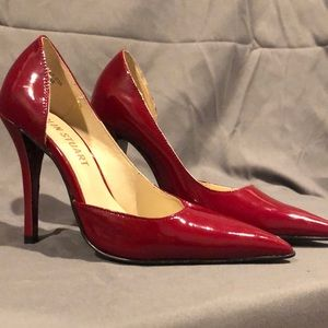 Red Patent Cut-out Pumps